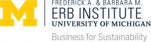 University of Michigan: Erb Institute | Business for Sustainability logo