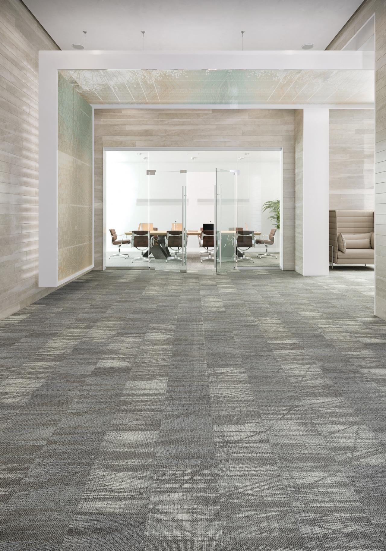 Data Tide tiles in a room as flooring