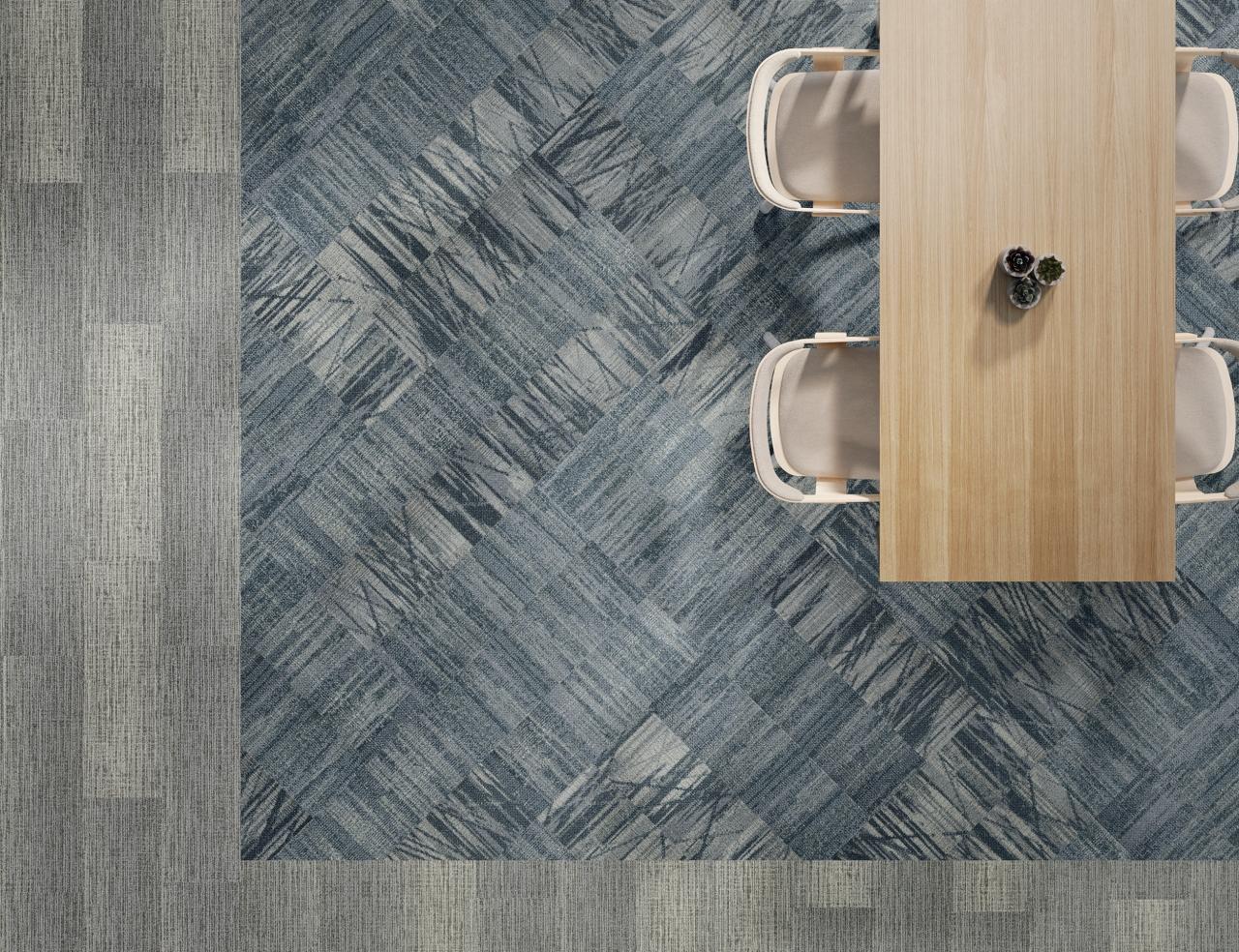 birds eye view of Data Tide tiles as carpet