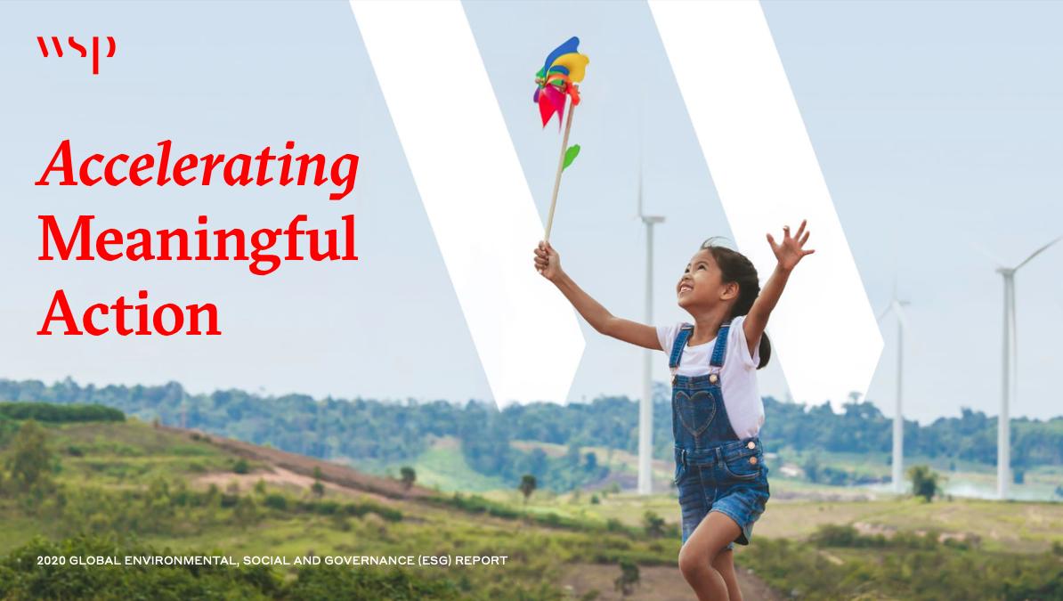 WSP ESG Report Cover