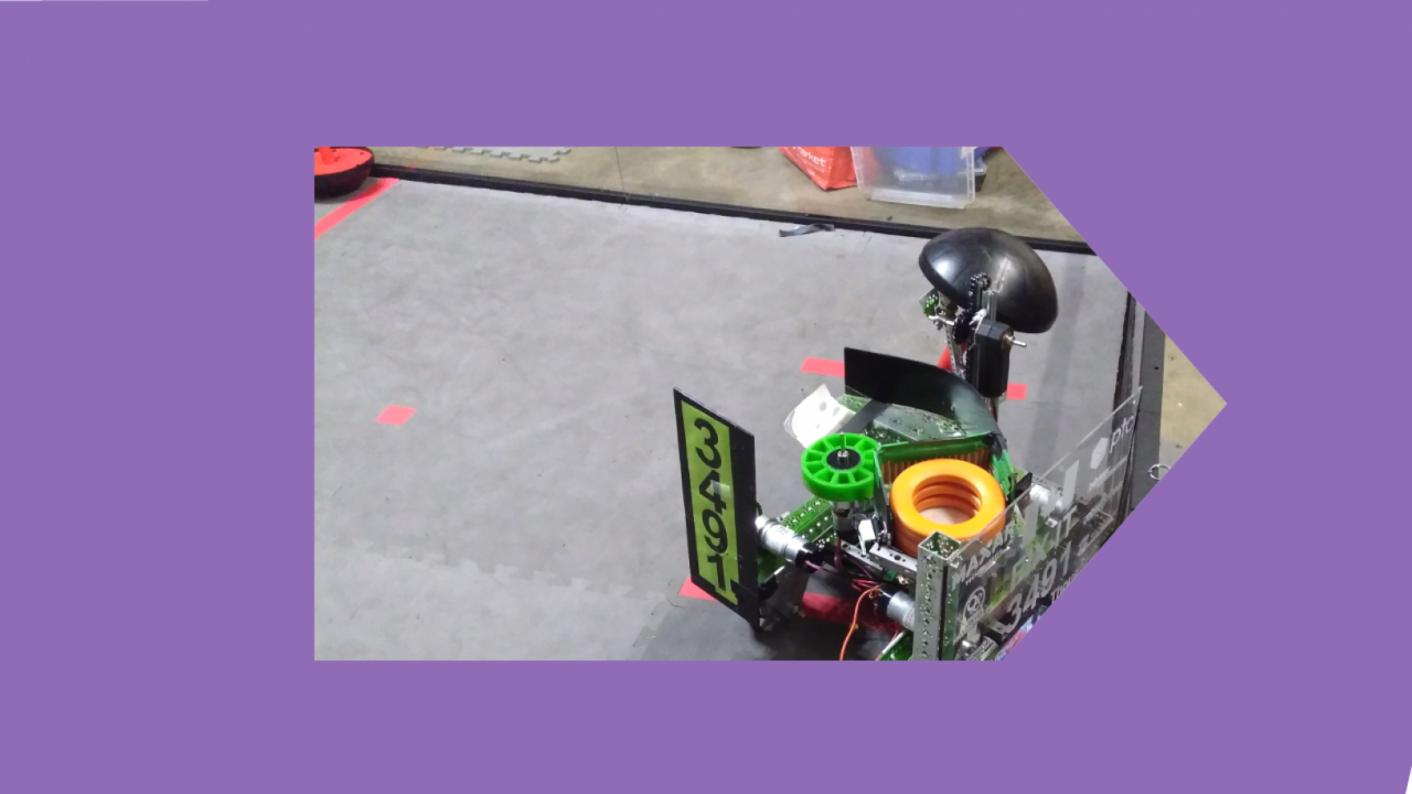 Image of robot in competition