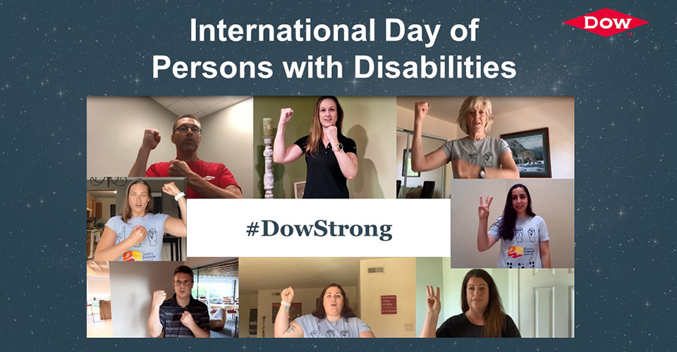"""Image reading """"International Day of Persons with Disabilities: #DowStrong"""""""