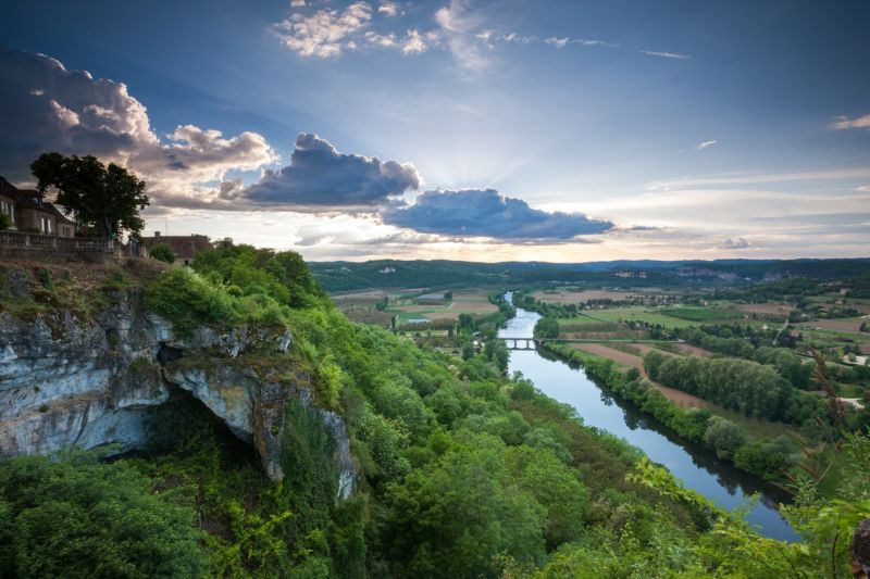 image of a landscape with river