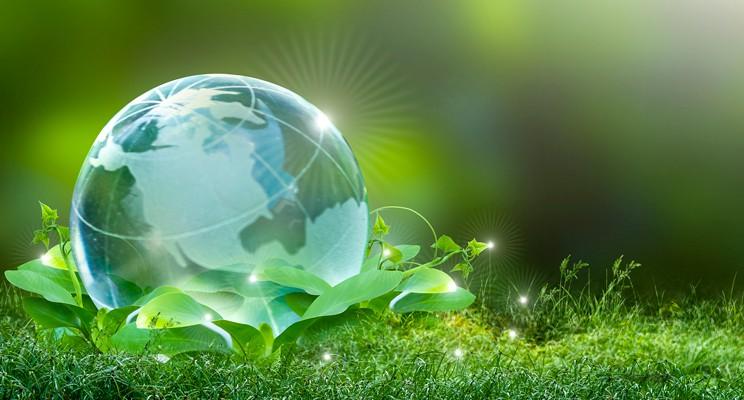 small glass globe