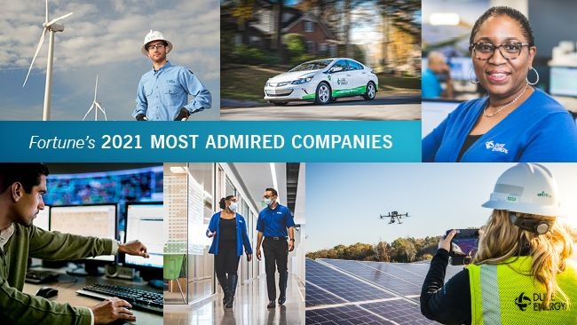 """Banner image reading, """"Fortune's 2021 Most Admired Companies"""""""