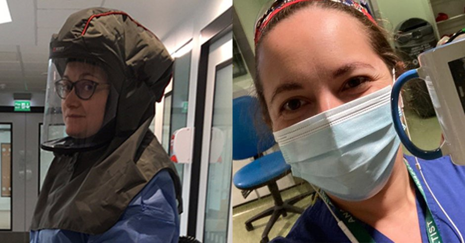 Two health care workers in PPE