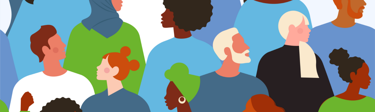 Inclusive Workplace Banner Illustration