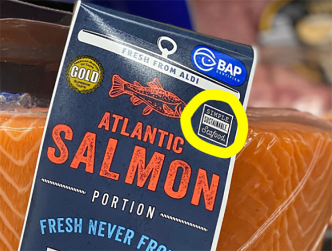 Package of salmon