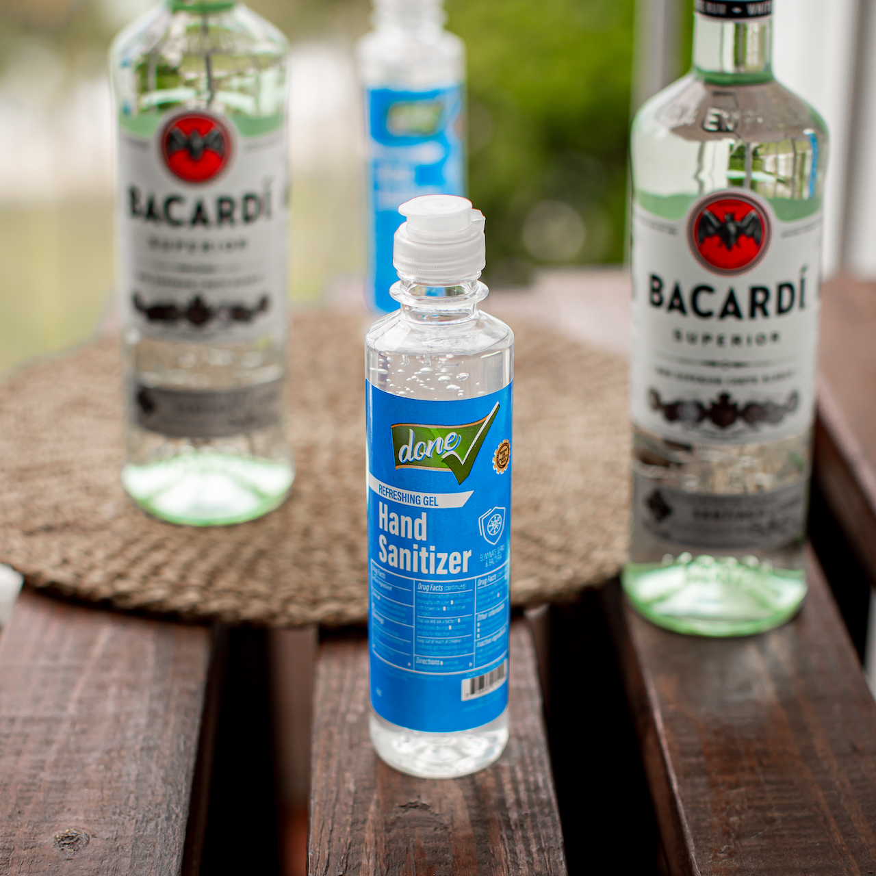 Bacardi products hand sanitizer to fight COVID-19