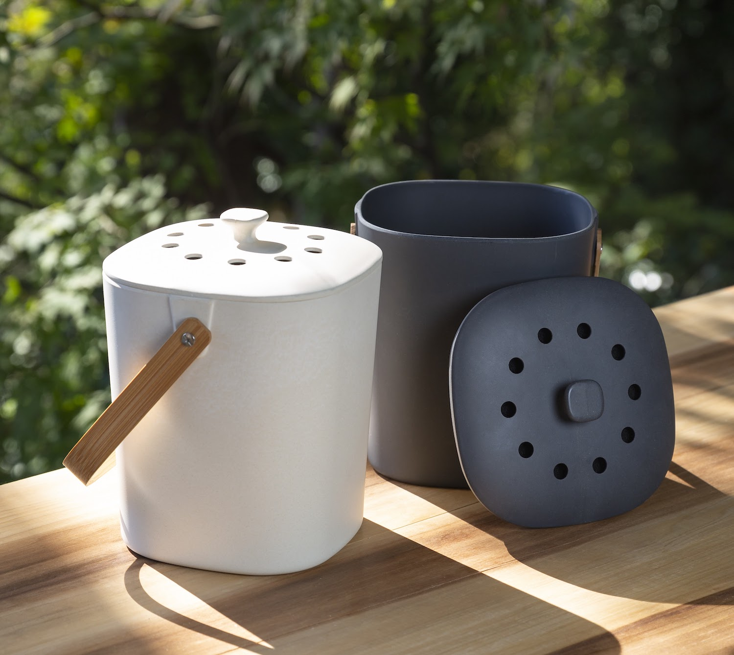 Bamboozle composter made from plant-based plastic alternatives