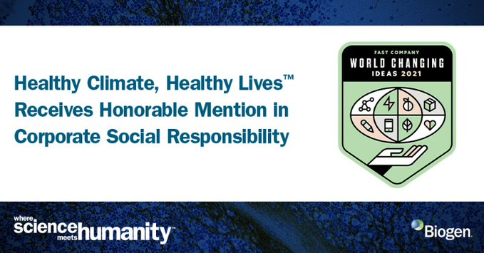 healthy climate healthy lives receives honorable mention in corporate social responsibility