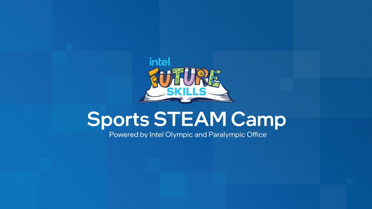 """Banner image reading """"Sports STEAM Camp: Powered by Intel Olympic and Paralympic Office"""""""
