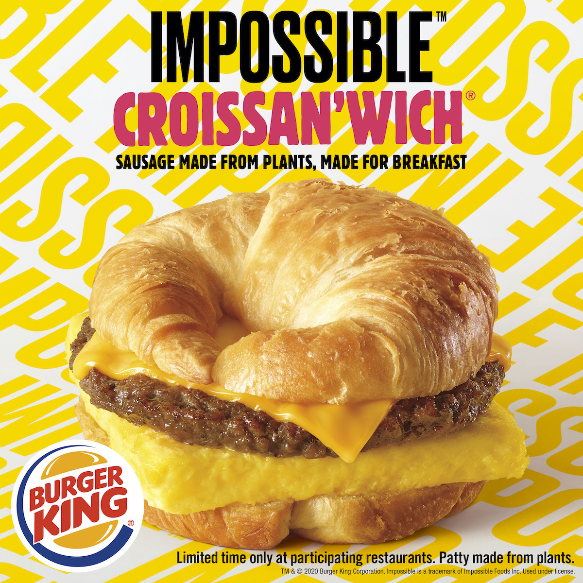 Burger King plant-based Impossible Croissan'wich