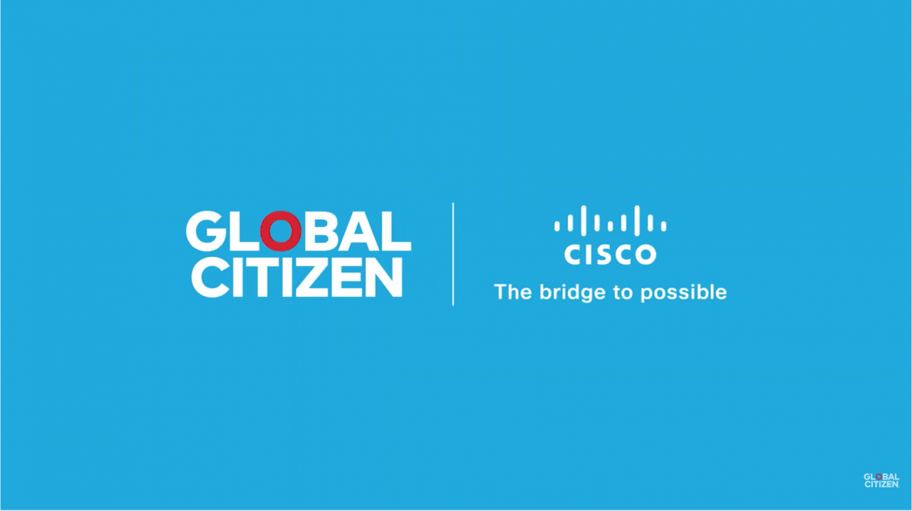 Global Citizen and Cisco logos