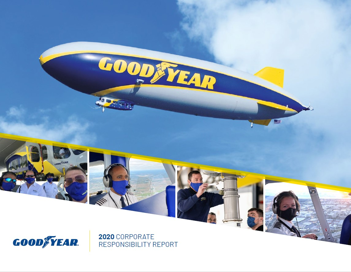 photo of the goodyear blimp