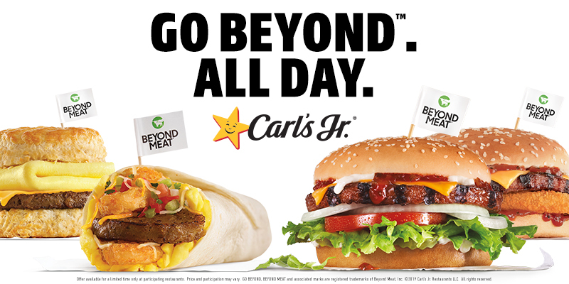 Carl's Jr. Hardee's plant-based foods Beyond Meat breakfast