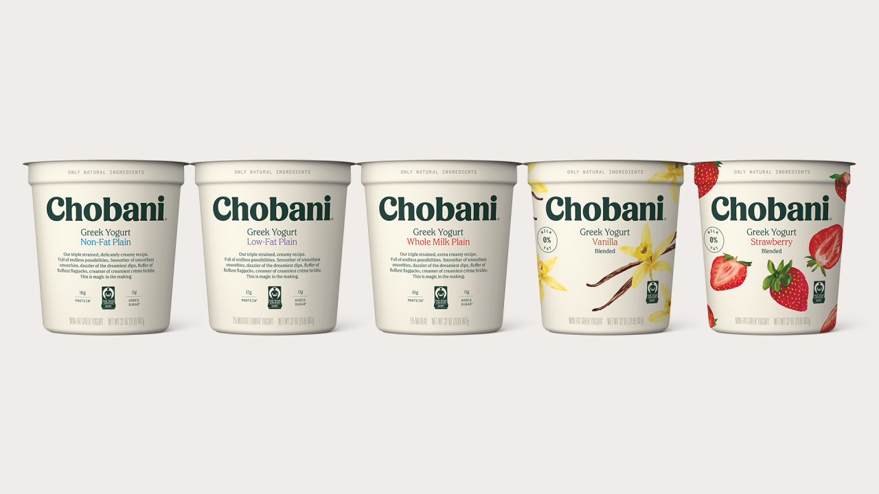 All of Chobani's 32oz, multi-serve containers of Greek Yogurt will now be Fair Trade Certified™ and available in all major grocery and retail stores.