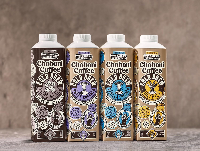 Chobani cold brew coffees