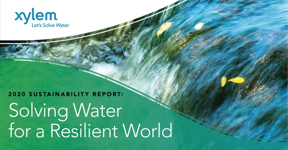 """Banner image reading """"2020 Sustainability Report: Solving Water for a Resilient World"""""""