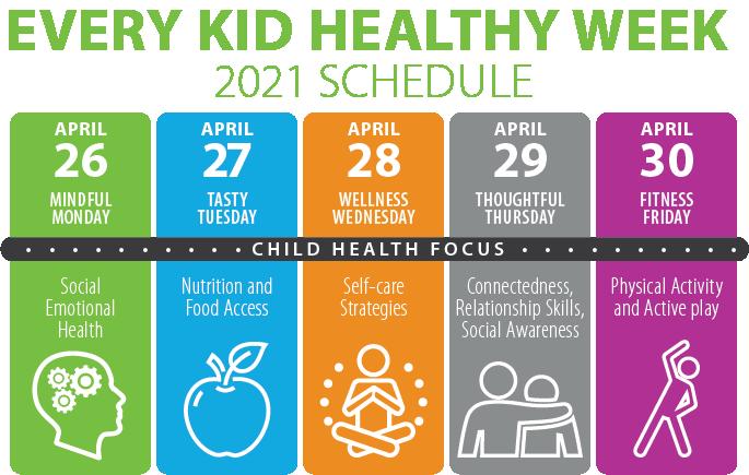Every Kid Healthy Weekly Schedule