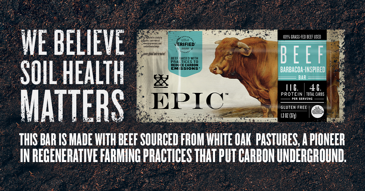 """Banner image with EPIC logo reading """"we believe soil health matters"""""""