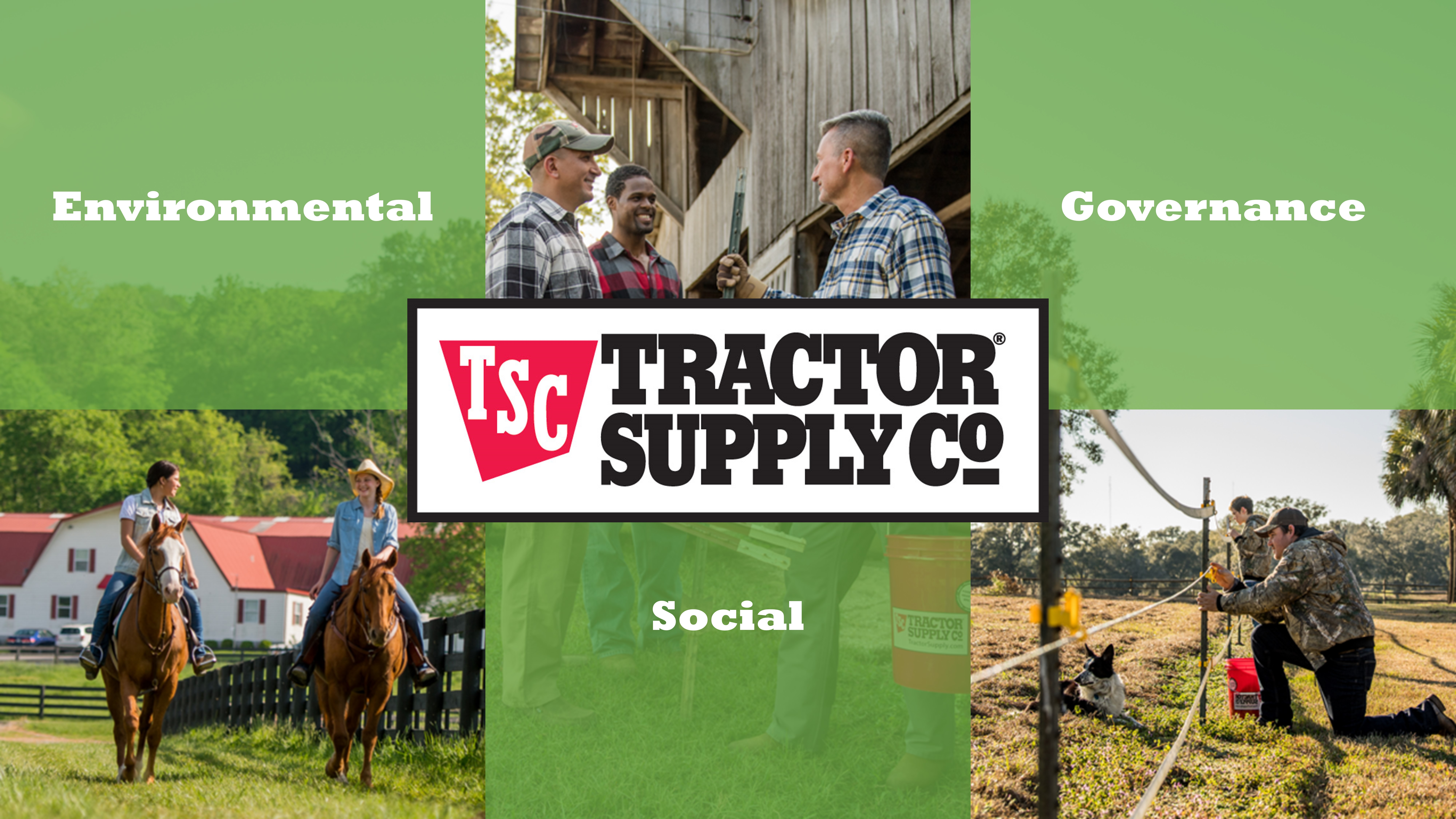 Tractor Supply Co ESG poster