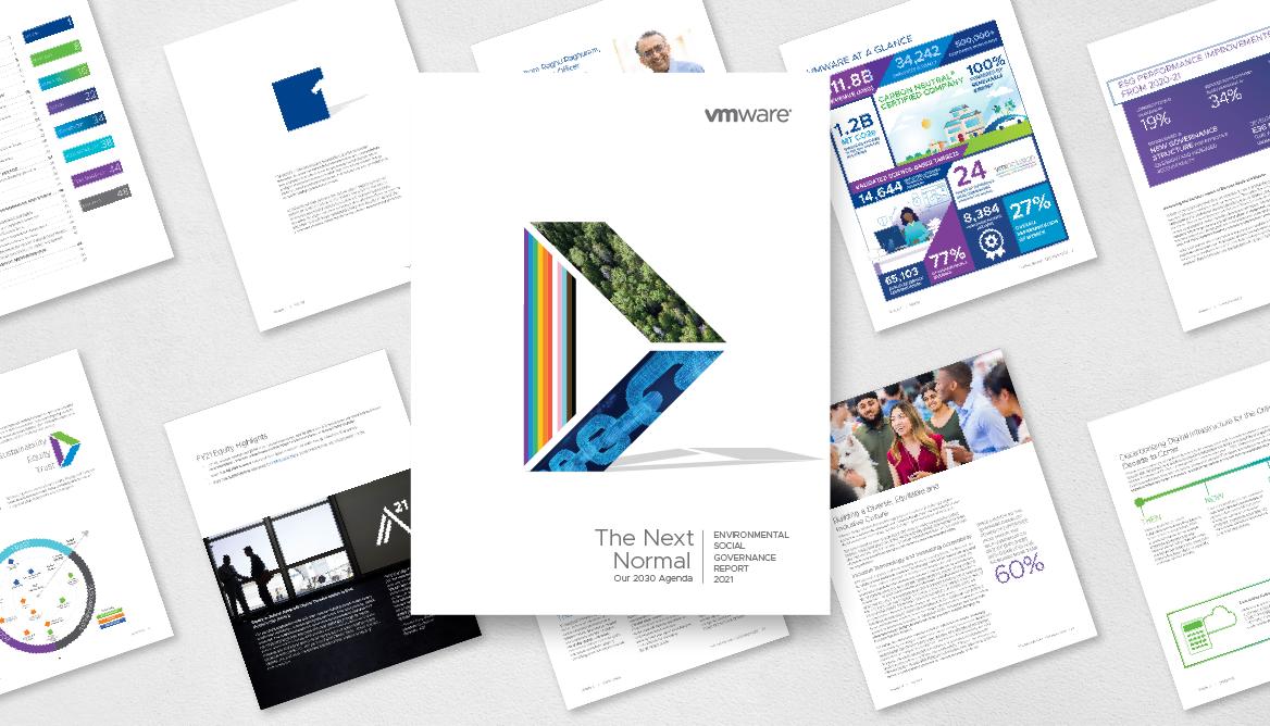VMware's ESG report cover