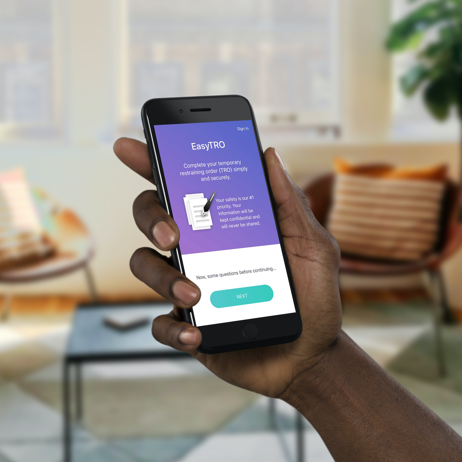 EasyTRO app invented by human trafficking survivor to help people seek protection from abusers