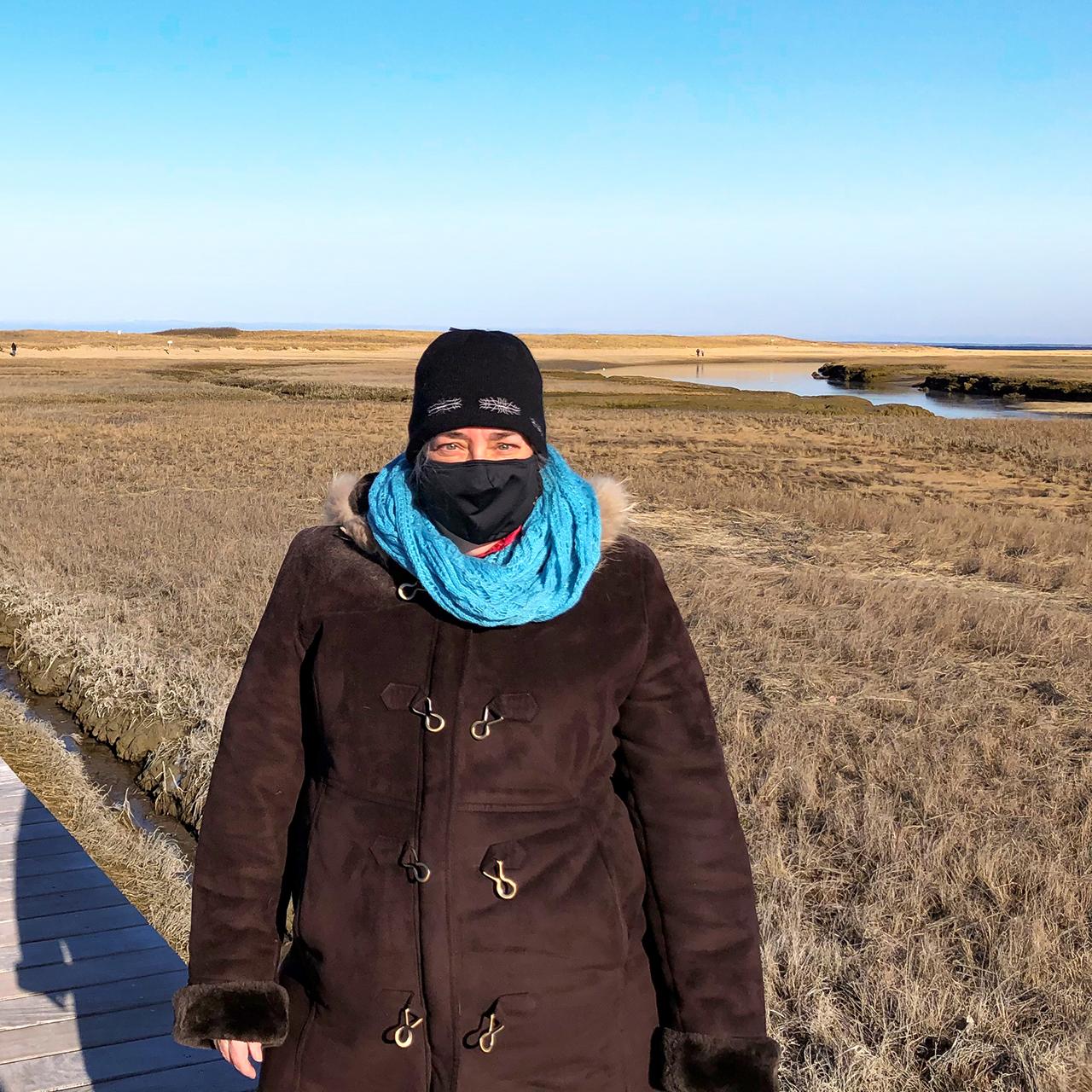 Ellen Chiniara, Alexion, on a winter walk