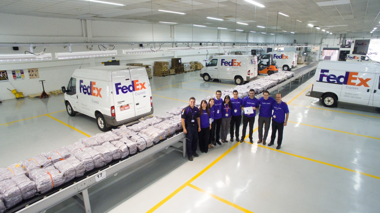 Group of FedEx workers