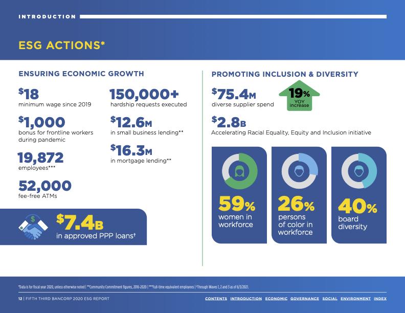 ESG Report Infographic