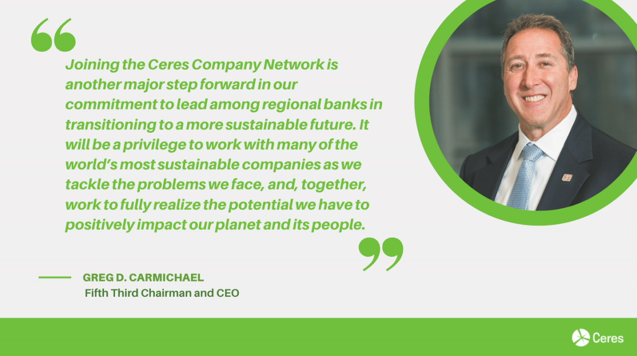 Fifth Third CEO of Ceres Company