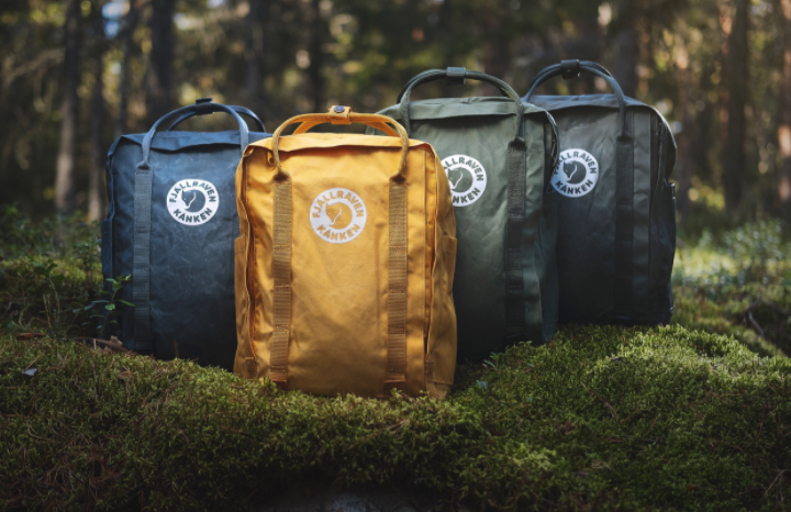 Fjällräven's Tree-Kånken backpack comes in four earthy colors.