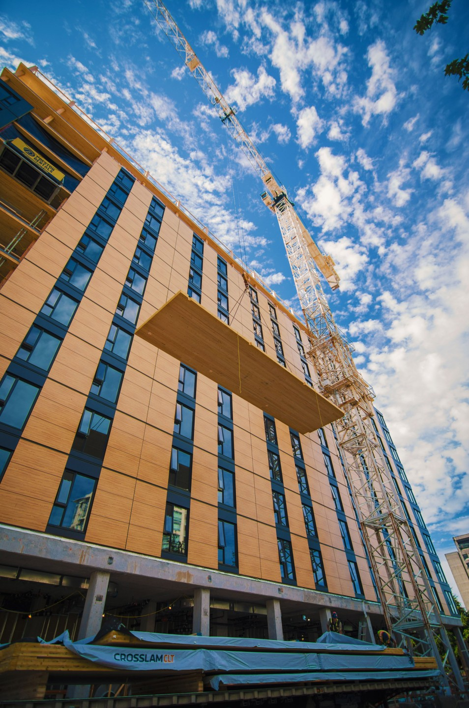 Brock Commons, a student residence hall at the University of British Columbia in Vancouver, Canada