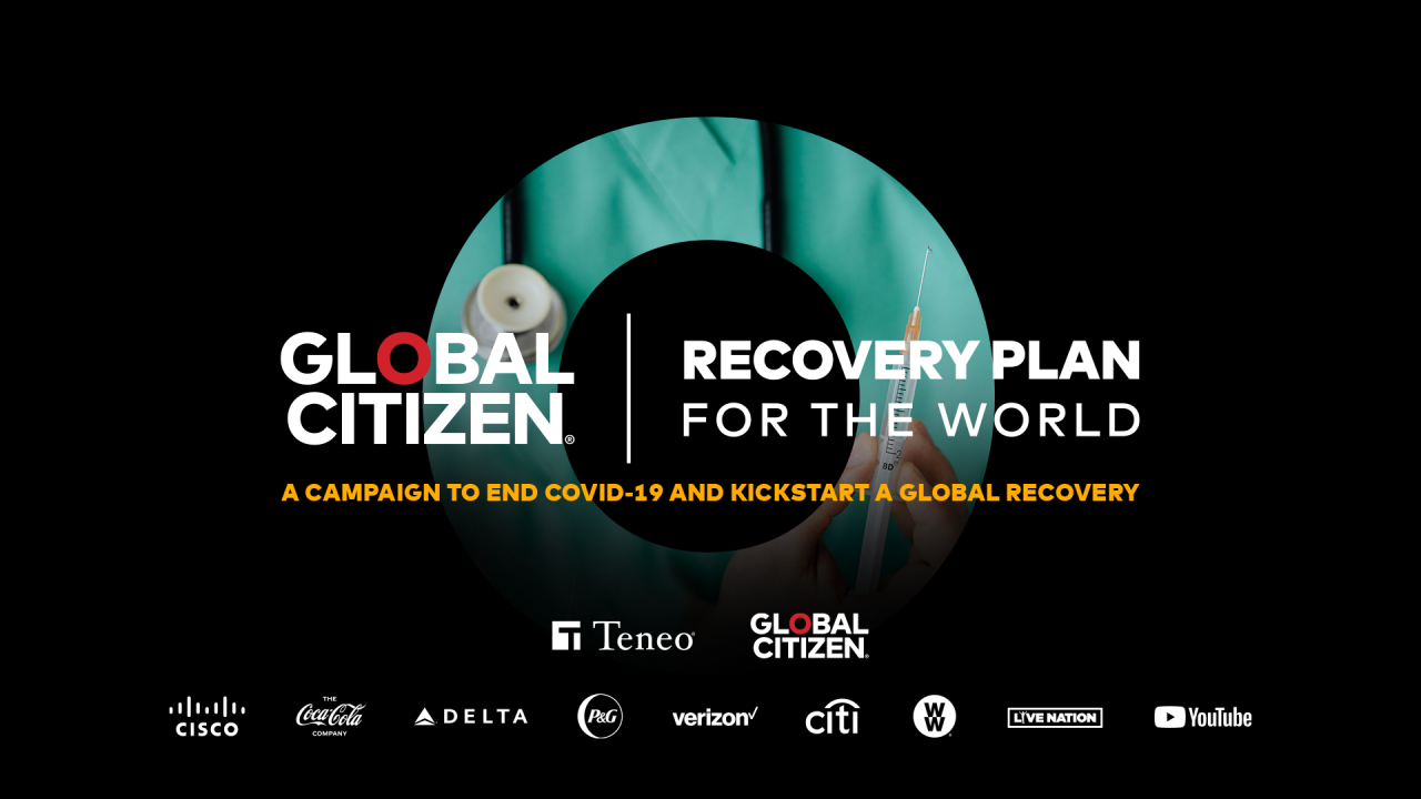 Global Citizen recovery plan for the world banner image