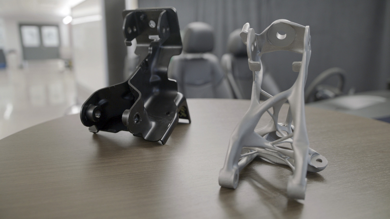 GM seat brackets made with generative design