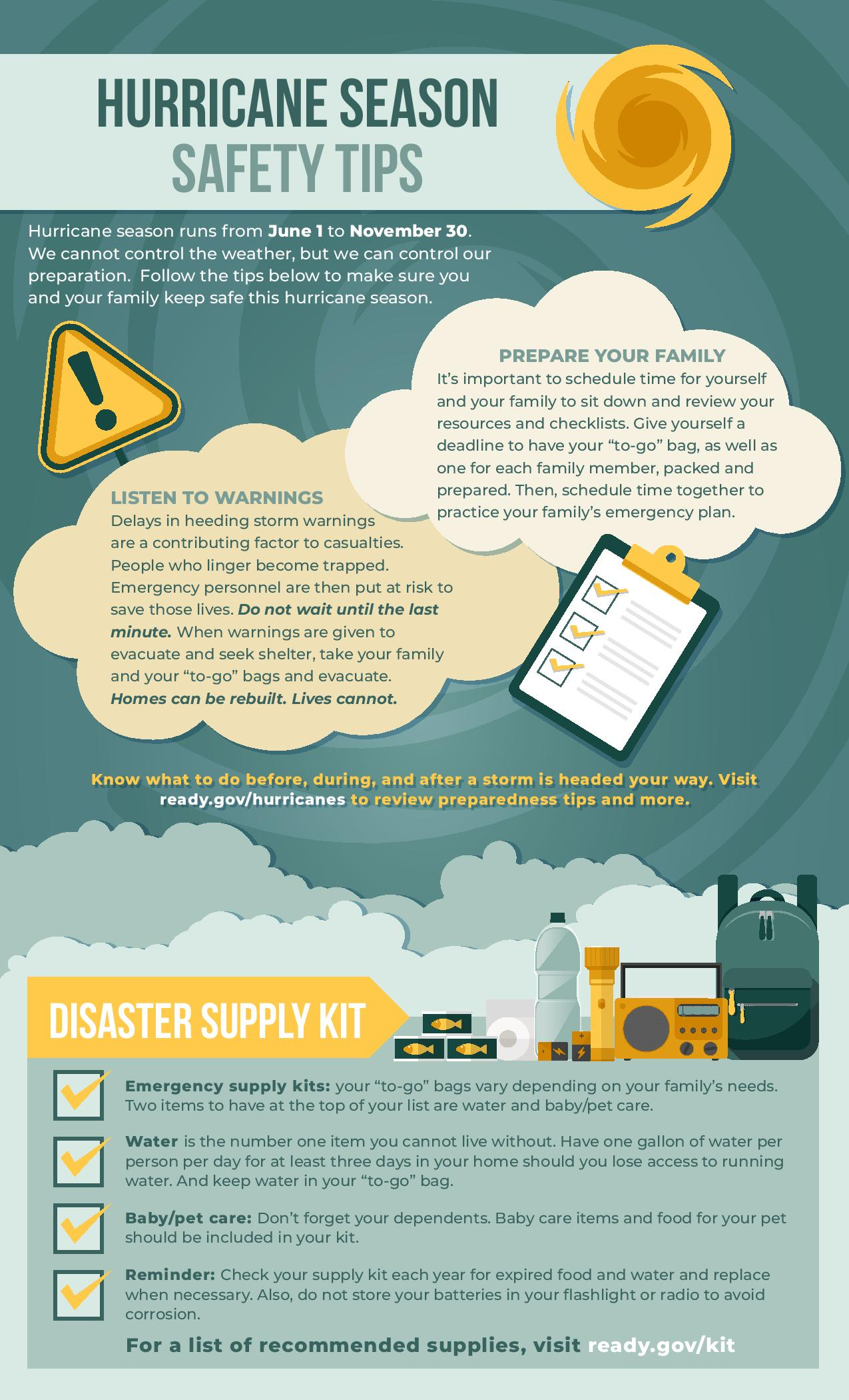 Hurricane Safety Infographic