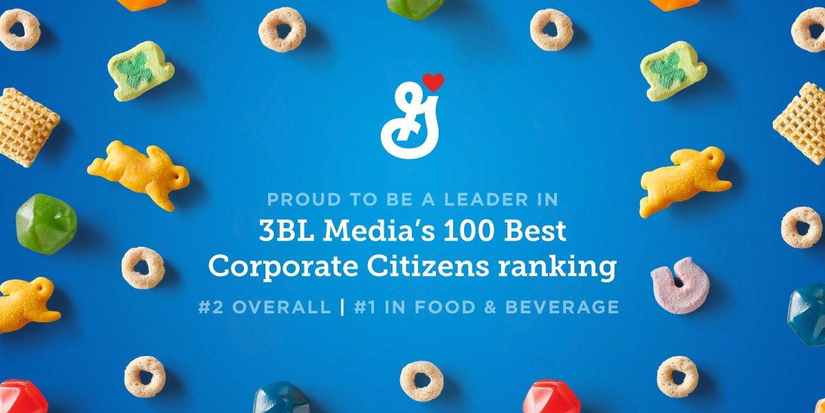 general mills 3BL media's 100 best corporate citizens ranking logo