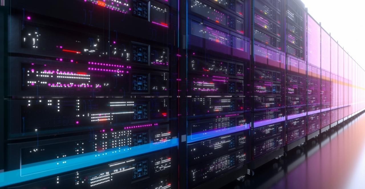 hallway of computer servers