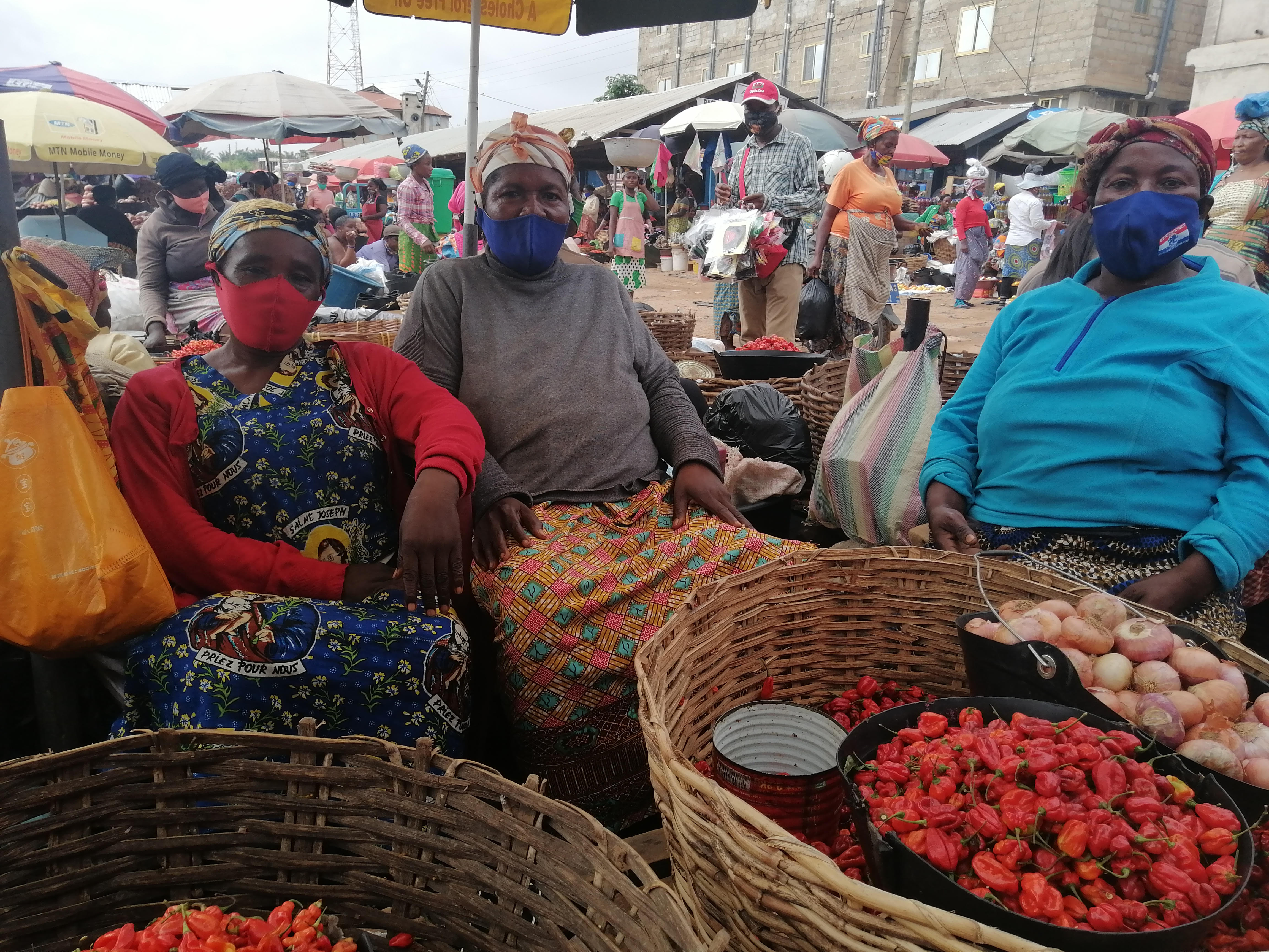 """In Ghana, so-called """"market queens"""" used their influence in largely managing large town markets to devise solutions with the government to keep markets open during the COVID-19 pandemic by rotating vendors to reduce the number working at any one time and increasing the physical space for the markets."""