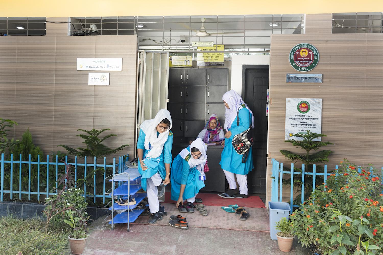 Girls Public Restroom Bangladesh Expanding Access to Sanitation