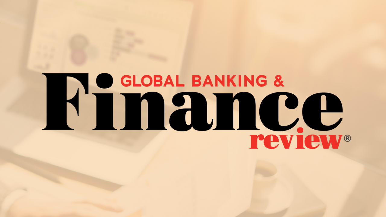 """Banner reading, """"Global Banking & Finance Review"""""""
