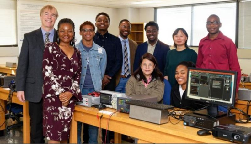 Dr. Doug Baney, Keysight's Corporate Director of Education, visits the Hampton University School of Engineering and Technology after the company donated more than $550,000 in specialized equipment and software.