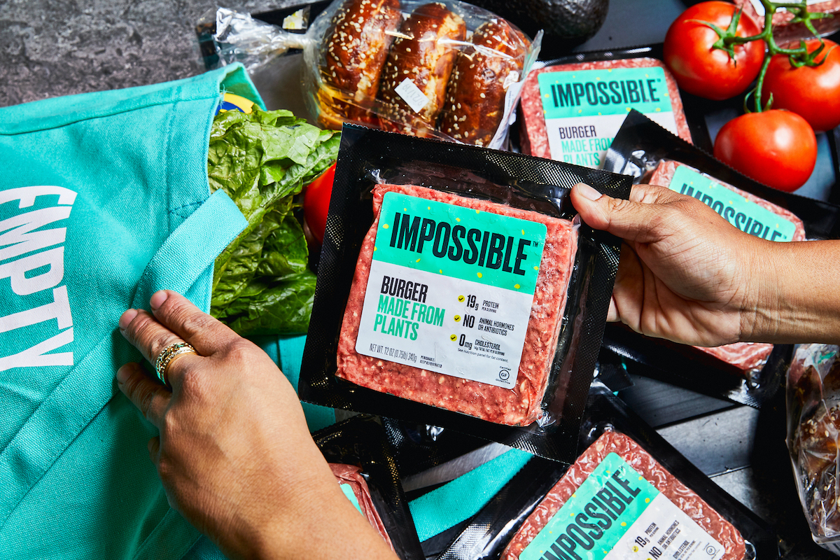 plant-based impossible burger grocery stores