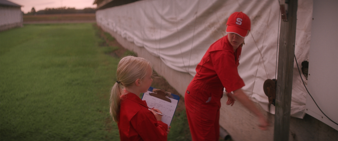 In a final scene in the film, Ivey's daughter joins her mom to help with morning chores. Ivey says the future of her daughter's generation is what drives her goal.