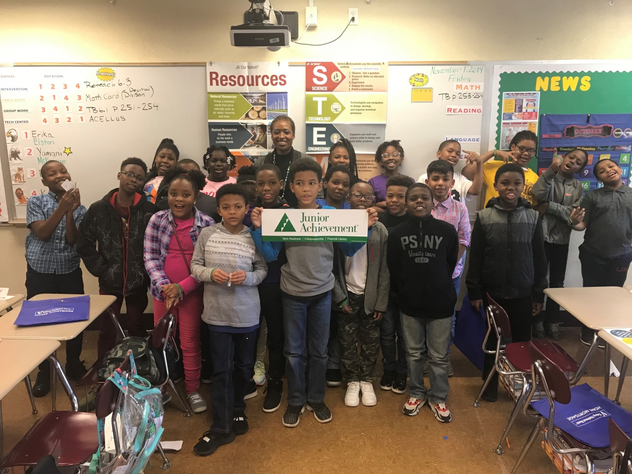Valley teaches children financial literacy through Junior Achievement programs.