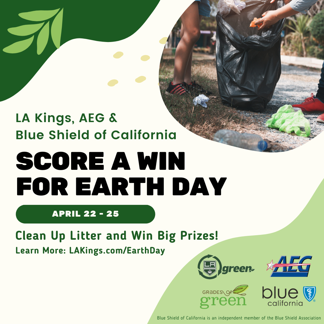 LA Kings Earth Day event poster