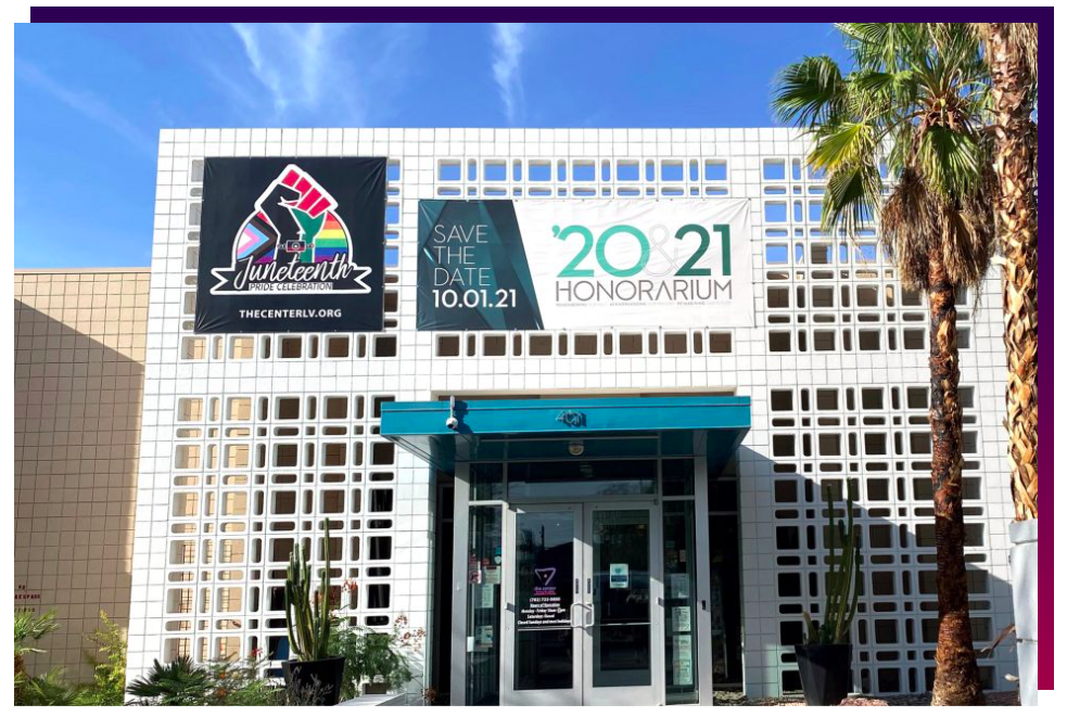 front entrance of LGBTQ Center of Southern Nevada