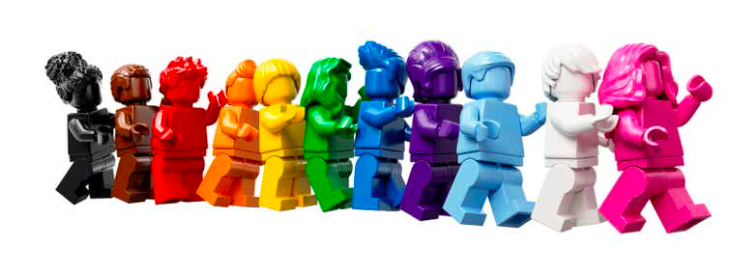 Lego figurines got a Pride Month makeover, and we couldn't be happier