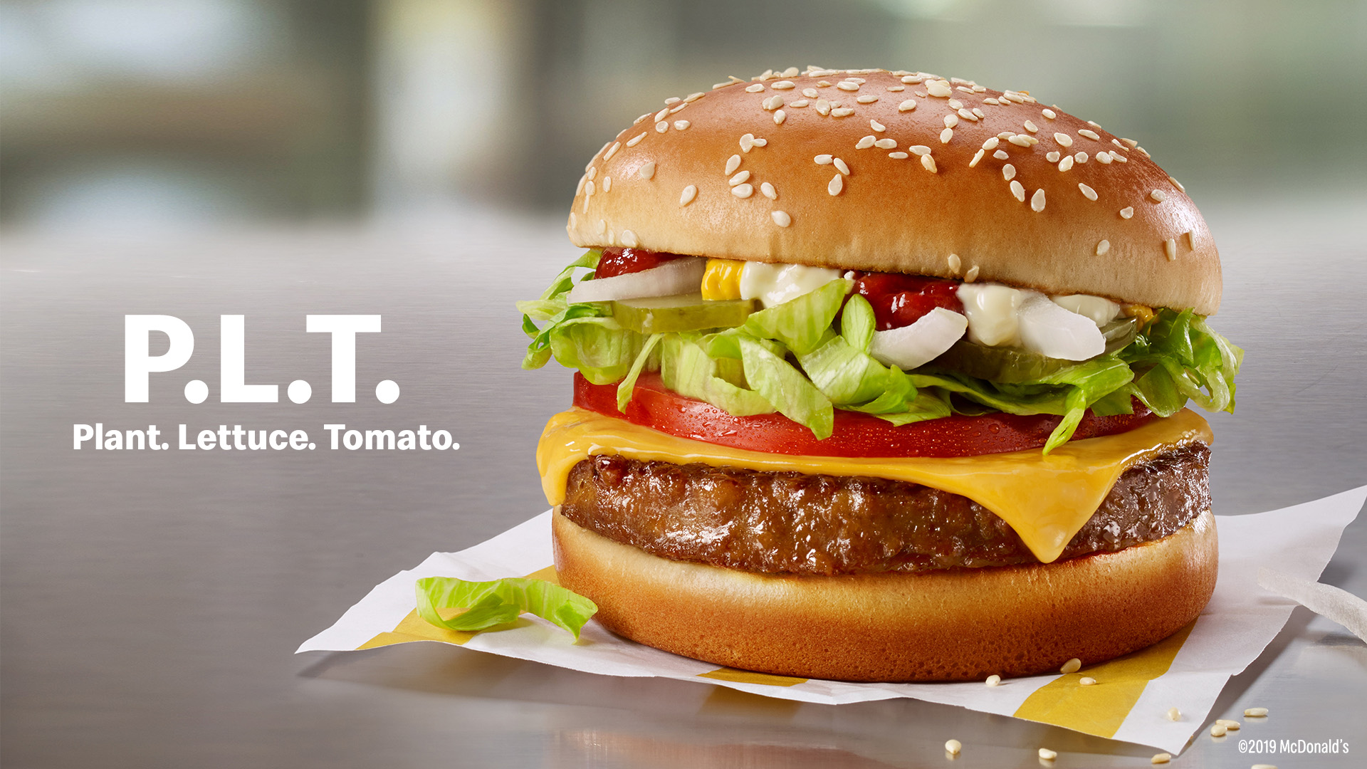 McDonald's PLT plant-based burger